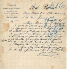 Cartas comerciales: BORJAS BLANCAS - 1904 - CARTA COMERCIAL ANTIGUA - EMPRESA HISTORICA - COMISION - CONSIGNACION VINOS. Lote 236616595