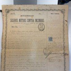 Cartas comerciales: 1887. PÓLIZA DE CRÉDITO ORIGINAL. Lote 236953005