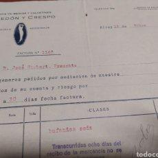 Cartas comerciales: FABRICA DE MEDIAS Y CALCETINES LACEDON Y CRESPO , ALCOY 1922. Lote 236989680