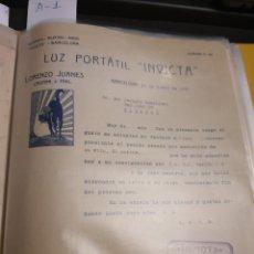 Cartas comerciales: LORENZO JUANES. BARCELONA 1923. Lote 237002155