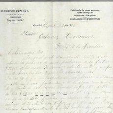 Cartas comerciales: CARTA COMERCIAL. MAURICIO OSPINA R. COMERCIANTE. 1916. GIRARDOT, COLOMBIA. 2 PAGINAS. Lote 237302505