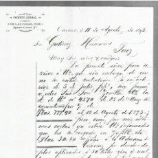 Cartas comerciales: CARTA COMERCIAL. VICENTE OSORIO. 1893. OAXACA, MÉXICO. 2 PAGINAS. Lote 237303775