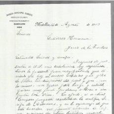 Cartas comerciales: CARTA COMERCIAL. MARCO HINCAPIE GARCES. MEDELLIN, COLOMBIA. 1909. MARINCAPIE. 2 PAGINAS. Lote 237304245