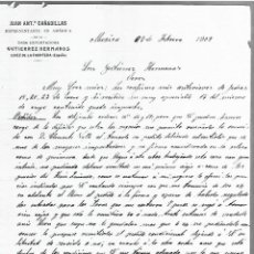 Cartas comerciales: CARTA COMERCIAL. JUAN ANTº CÑADILLAS. REPRESENTANTE EN AMERICA. 1909. MEXICO. 2 PAGINAS. Lote 237304355