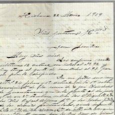 Cartas comerciales: CARTA COMERCIAL. MANUSCRITA. JUAN SIMO. 1909. HABANA. Lote 237304420