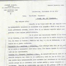 Cartas comerciales: CARTA COMERCIAL. JOSÉ OMIL. ACEITUNAS SEVILLANAS. MONTEVIDEO. 1929. URUGUAY. 2 PÁGINAS. Lote 237304695