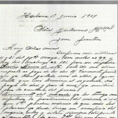 Cartas comerciales: CARTA COMERCIAL. MANUSCRITA. JUAN SIMO. 1909. HABANA. Lote 237304795