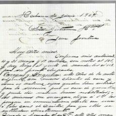 Cartas comerciales: CARTA COMERCIAL. MANUSCRITA. JUAN SIMO. 1909. HABANA. Lote 237304825