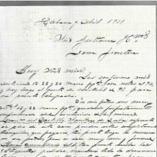 Cartas comerciales: CARTA COMERCIAL. MANUSCRITA. JUAN SIMO. 1909. HABANA. Lote 237304850