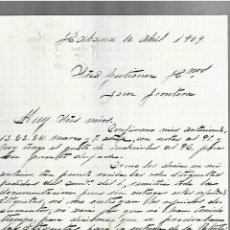 Cartas comerciales: CARTA COMERCIAL. MANUSCRITA. JUAN SIMO. 1909. HABANA. Lote 237304860