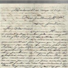 Cartas comerciales: CARTA COMERCIAL. MANUSCRITA. JUAN SIMO. 1909. HABANA. Lote 237304915