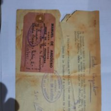 Cartas comerciales: FACTURA.JEREZ DE LA FONTERA .CADIZ.MANUEL DE ARGUESO VINOS Y COÑACS.COSARIO. Lote 237311340