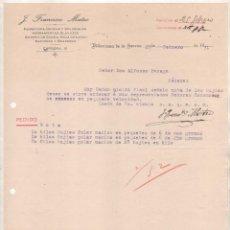 Cartas comerciales: FRANCISCO MATEO. FERRETERÍA, DROGAS, SARTENES, ETC VILLANUEVA DE LAS SERENA. BADAJOZ. 1931. Lote 237357600