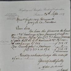 Cartas comerciais: CARTA COMERCIAL. HONGKONG AND SHANGHAI BANKING CORPORATION. BATAVIA. INDONESIA 1899. Lote 251556385