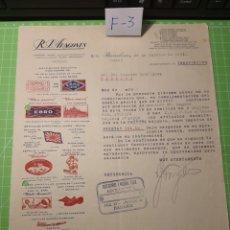 Cartas comerciales: REPRESENTANTE DE COMERCIO .1933. Lote 238564430