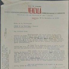 Lettere commerciali: CARTA COMERCIAL. HIJO DE MANUEL VENZALÁ. AGENTE COMERCIAL COLEGIADO. MARTOS. JAÉN. ESPAÑA 1952. Lote 240344610
