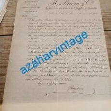 Lettres commerciales: CARTA COMERCIAL,1894, B.PARERA Y CIA, EXPLOTACION DE CINABRIOS DE LA ALPUJARRA DE GRANADA, MINAS. Lote 242034845