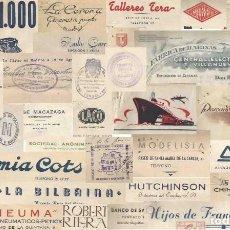 Lettres commerciales: LOTE DE MÁS DE 40 DOCUMENTOS COMERCIALES. AÑOS 40. CERRAJERÍAS. RADIO. AGUA. PESCADO. ETC... Lote 242223965