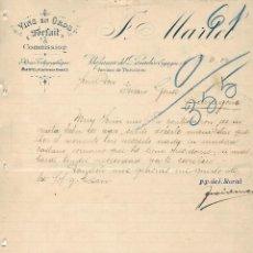 Cartas comerciales: CARTA COMERCIAL ANTIGUA - HISTORIA CIUDAD - VILAFRANCA DEL PENEDES - J. MARTEL. Lote 243181750