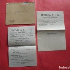 Cartas comerciales: TECNICA CIM.-SUMINISTROS INDUSTRIALES Y MINEROS.-CARTA COMERCIAL.-MADRID.. Lote 244201285
