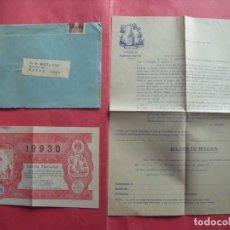Cartas comerciales: COMISION FALLA.-PLAZA NA JORDANA.-LOTERIA.-CASA BELLO.-VALENCIA.-AÑO 1951.. Lote 244202260