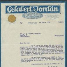 Cartas comerciales: ANTIGUA CARTA COMERCIAL GELABERT Y JORDAN AÑO 1932 PRODUCTOS ALIMENTICIOS. Lote 244453615