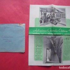 Cartas comerciales: APLICACIONES GENERALES ELECTRICAS.-AGE.-FABRICAS DE HIELO.-FABRICAS DE CHOCOLATE.-CARTA.-BARCELONA.. Lote 244584195