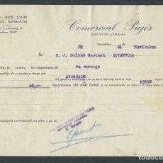 Cartas comerciales: ANTIGUA CARTA COMERCIAL ALPARGATERA PUJOS AÑO 1932 BARCELONA FIRMADA. Lote 244609030