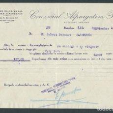 Cartas comerciales: ANTIGUA CARTA COMERCIAL ALPARGATERA PUJOS AÑO 1932 BARCELONA FIRMADA. Lote 244609460