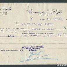 Cartas comerciales: ANTIGUA CARTA COMERCIAL ALPARGATERA PUJOS AÑO 1932 BARCELONA FIRMADA. Lote 244609650