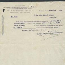 Cartas comerciales: ANTIGUA CARTA COMERCIAL DROGUERIA VIDAL RIBAS AÑO 1931 BARCELONA FIRMADA. Lote 244610545