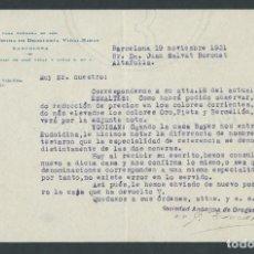 Cartas comerciales: ANTIGUA CARTA COMERCIAL DROGUERIA VIDAL RIBAS AÑO 1931 BARCELONA FIRMADA. Lote 244611765