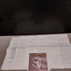 Cartas comerciales: 4 CARTAS ESCRITAS POR LA ATRACCIÓN VEDETT MUSICAL..MARUJA ORDOVAS..AÑOS 60.... Lote 244896685