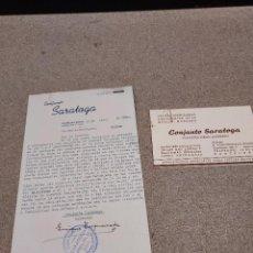 Cartas comerciales: CARTA ESCRITA POR EL CONJUNTO ESPAÑOL SARATOGA....1961.... Lote 244995025