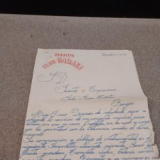Cartas comerciales: CARTA ESCRITA POR LA ORQUESTA CLUB HABANA....1959..... Lote 244995980