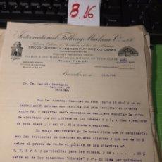 Cartas comerciales: DISCOS ODEÓN. 1916. BARCELONA. Lote 245643100