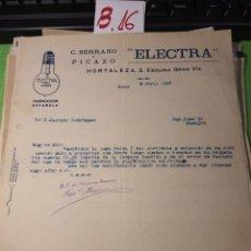 Cartas comerciales: ELECTRÓNICO. .MADRID. 1925. Lote 245649345