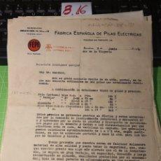 Cartas comerciales: FEPE. BARCELONA 1939. Lote 246057580