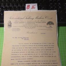 Cartas comerciais: DISCOS ODEÓN. 1916. Lote 246160305