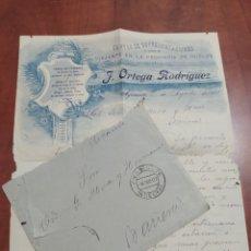 Cartas comerciales: CARTA Y SOBRE AYAMONTE HUELVA 1907.. Lote 246230110