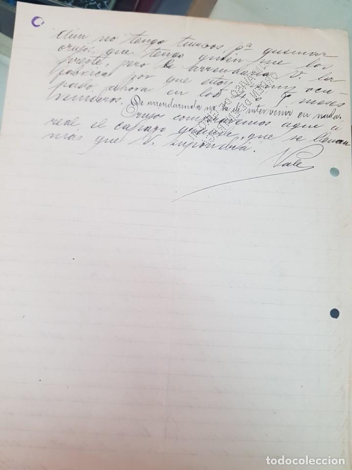 Cartas comerciales: ANTIGUA CARTA COMERCIAL ABEL SAEZ TOBARRA ALBACETE 1910 - Foto 2 - 249137050
