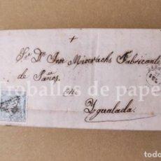 Cartas comerciales: CARTA COMERCIANTE DE ZARAGOZA A IGUALADA 27 DE JULIO DE 1873 JOSÉ MISERACHS - CARTA SENCERA. Lote 250112710