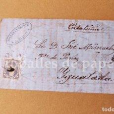 Cartas comerciales: CARTA COMERCIANTE DE ALBACETE A IGUALADA 1873 JOSÉ MISERACHS - CARTA SENCERA. Lote 250292760