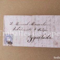 Lettere commerciali: CARTA COMERCIANTE A IGUALADA 1873 JOSÉ MISERACHS. Lote 250293015