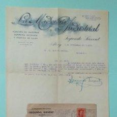 Cartas comerciales: CARTA COMERCIAL AÑO 1929 LA MADERERA INDUSTRIAL SEGUNDO SIRVENT ALCOY VALENCIA CON SOBRE. Lote 252938330