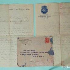 Cartas comerciales: CARTA COMERCIAL AÑO 1927 LA CONFIANZA SOCIEDAD MUTUA DE MAESTROS SASTRES DE VALENCIA CON SOBRE. Lote 252939010