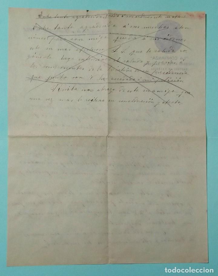 Cartas comerciales: CARTA COMERCIAL AÑO 1927 LA CONFIANZA SOCIEDAD MUTUA DE MAESTROS SASTRES DE VALENCIA CON SOBRE - Foto 3 - 252939010