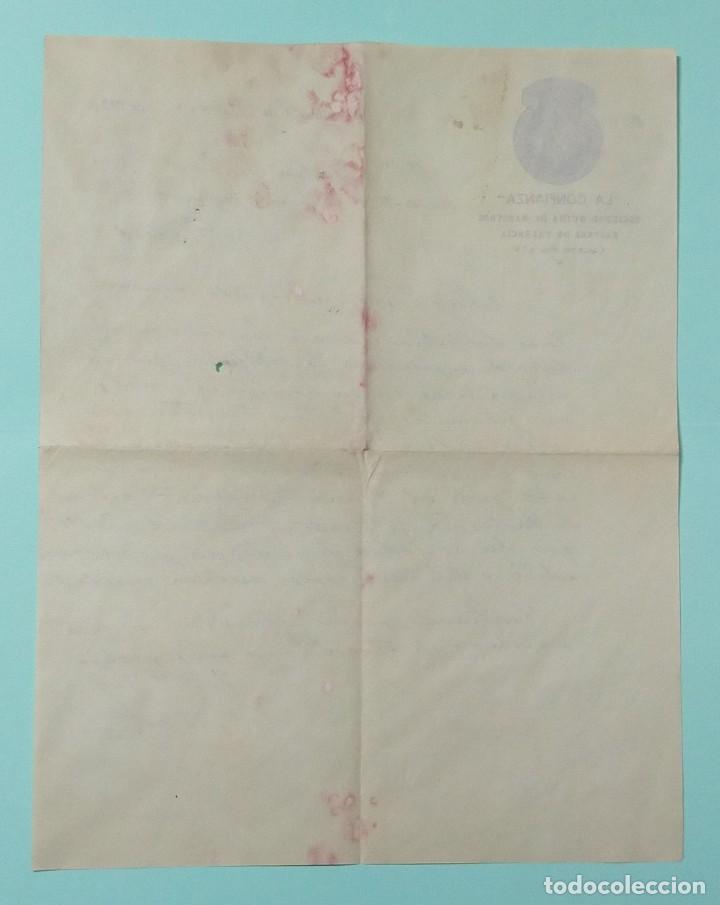 Cartas comerciales: CARTA COMERCIAL AÑO 1927 LA CONFIANZA SOCIEDAD MUTUA DE MAESTROS SASTRES DE VALENCIA CON SOBRE - Foto 5 - 252939010