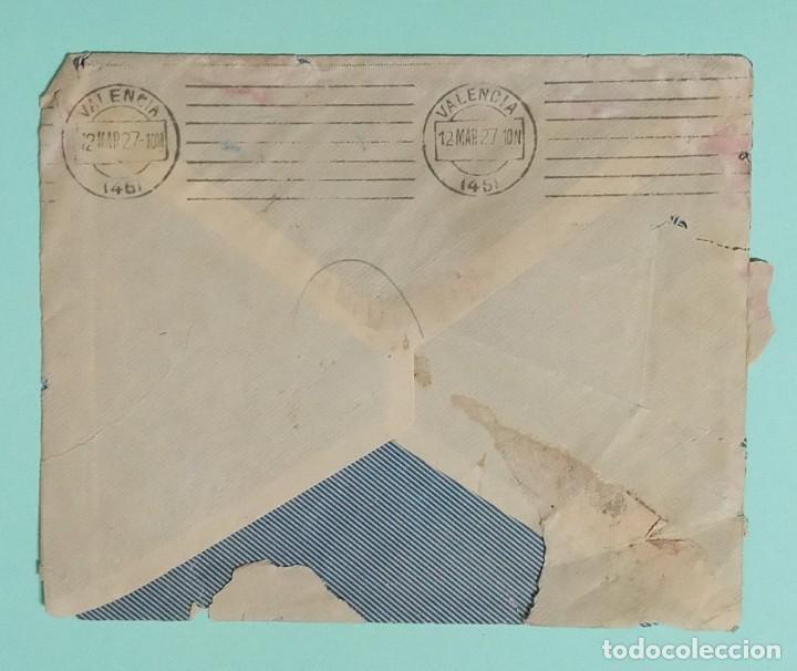 Cartas comerciales: CARTA COMERCIAL AÑO 1927 LA CONFIANZA SOCIEDAD MUTUA DE MAESTROS SASTRES DE VALENCIA CON SOBRE - Foto 7 - 252939010