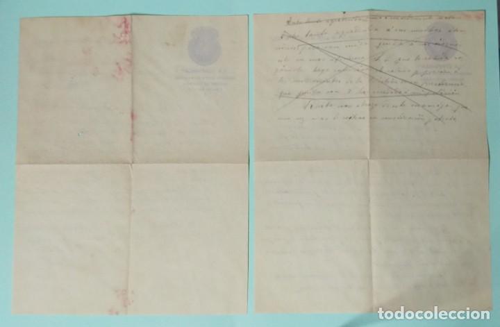 Cartas comerciales: CARTA COMERCIAL AÑO 1927 LA CONFIANZA SOCIEDAD MUTUA DE MAESTROS SASTRES DE VALENCIA CON SOBRE - Foto 9 - 252939010